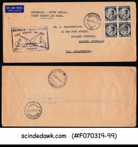 AUSTRALIA - 1952 1st DIRECT AIRMAIL to SOUTH AFRICA - FFC