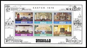 Anguilla 348a, MNH, Interiors of Anguilla's Churches souvenir sheet
