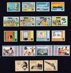 Samoa x 6 MNH sets