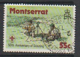 Montserrat SG 436   Fine Used  - Scouts