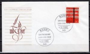 Germany, Scott cat. 849. Choir issue on a First Day Cover.