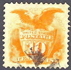 US Stamp #116 USED SCV $110. BRIGHT with excellent margins.
