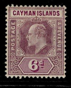 CAYMAN ISLANDS EDVII SG30, 6d dull purple & violet purple, M MINT. Cat £28.