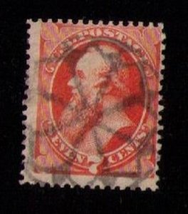 US Sc 160 Used WAFFLE TYPE CANCELLATIONOrg Vermilion.F-VF