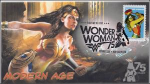 2016, Wonder Woman, Modern Age, BW Pictorial Postmark, NY NY, 16-287