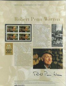 USPS COMMEMORATIVE PANEL #734 ROBERT PENN WARREN #3904
