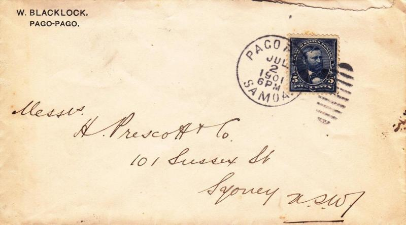 Cover: 1901, Pago Pago, Samoa-Sydney, New South Wales, See Remark (21811)