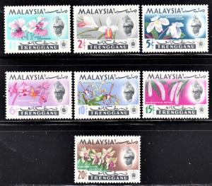 Malaysia Trengganu Scott 86-92  complete set  F to VF mint OG H or HR.