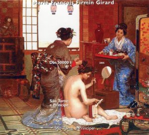 Sao Tome & Principe 2005 FRANCOIS FIRMIN GIRARD Nudes s/s Imperforated Mint (NH)