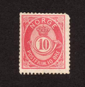 Norway - Sc# 40 MH  /  Lot 1018099