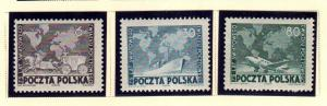 Poland  457 - 459  MNH cat $ 7.25