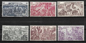 Doyle's_Stamps: French Guiana 1946 Chad to Rhine Set C12** to C17**
