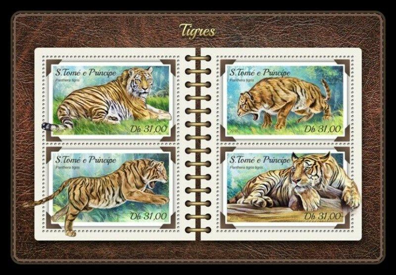 HERRICKSTAMP NEW ISSUES ST. THOMAS Tigers Sheetlet