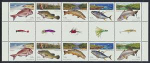 Angling in Australia Fish 2003 Gutter Pair MNH SG 2282a SC# 2137a