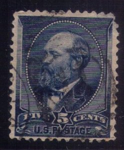US Sc 216 Used Indigo 5c VF