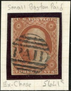 #10 VF USED WITH SMALL PAID CANCEL POS.6L1e EX-CHASE CV $205.00 BP1384
