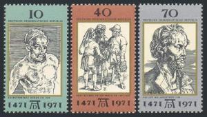 Germany-GDR 1298-1300,MNH.Michel 1672-1674. Art works by Albrecht Durer,1971.