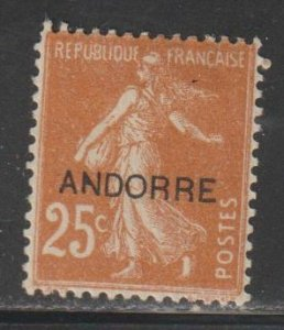 French Andorra SC 8 Mint Hinged