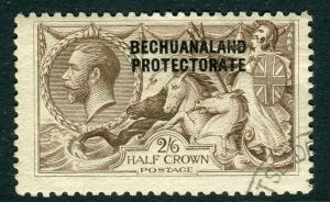 BECHUANALAND-1920-23 2/6 Chocolate-Brown.  A fine used example Sg 88