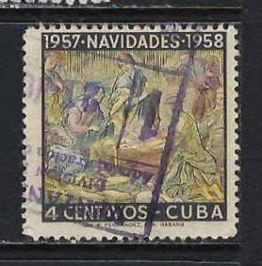 CUBA 589 VFU CHRISTMAS H431-4