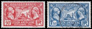 France Scott 243-244 (1927) Mint/Used H VF, CV $3.75 C