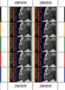 Germany - 2018 100th Birth Anniversary of Nelson Mandela Joint Issue Sheet MNH**