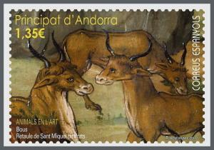 H01 Andorra (Spain) 2017 Animals in art Bulls MNH Postfrisch