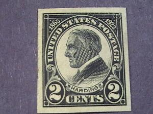 U.S.# 611-MINT/NEVER HINGED----BLACK--IMPERFORATE AS ISSUED--HARDING----1923
