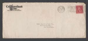 1930 2-cent COIL on Californians Cover