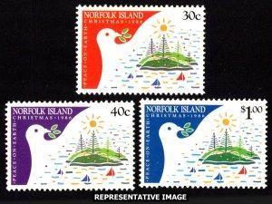 Norfolk Islands Scott 389-391 Mint never hinged.