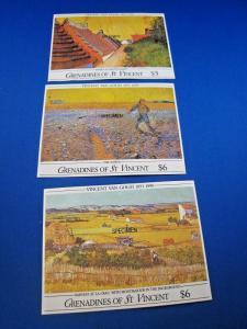 GRENADINES OF ST. VINCENT  -  SCOTT # 765, 767, 768  S/S   MNH   (gg)