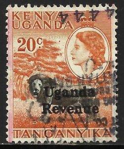 Kenya, Uganda & Tanzania 1954 Scott# 107 Used Revenue