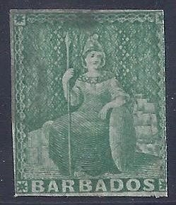 Barbados scott #5 used F-VF