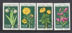 GERMAN DEMOCRATIC REPUBLIC 1093-6 Protected flowers