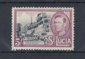 St Lucia KGVI 1938 5/- SG137 MLH J8520
