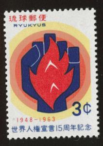 RYUKYU Scott 116 MNH** 1963 stamp