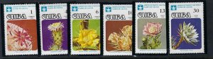 CUBA 2188-91 C281-2 MNH FLOWERS B1226