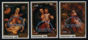 Cook Islands B100-2 MNH Christmas, Pope John Paul II Visit o/p