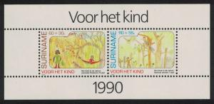 Suriname Child Welfare The Child in Nature Paintings MS SG#MS1471