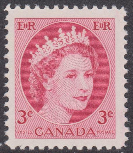 Canada - 1954 3c Wilding Hibrite Single VF-NH #339iii