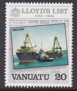 Vanuatu #369 single F-VF Mint NH ** Induna (ship)