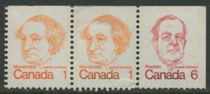 STAMP STATION PERTH Canada #586a Booklet 3 Stamp 1972 MNH CV$1.25