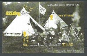 2007 Isle of Man Scouts Centenary Europa minisheet
