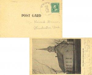 United States Indiana Crete 1910 doane 3/1  1882-1918  PPC (First Church of C...