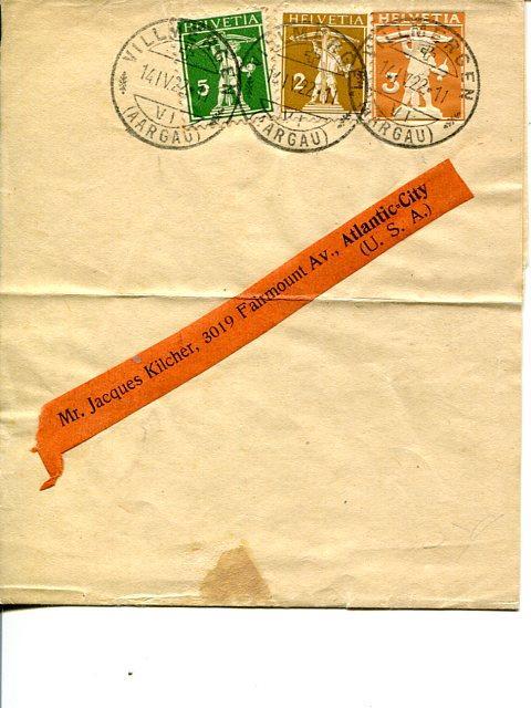 Switzerland  1919 cover