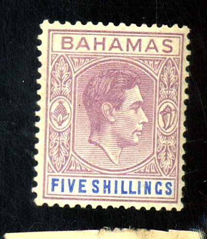 BAHAMAS #112A MINT FVF OG HR Cat $24