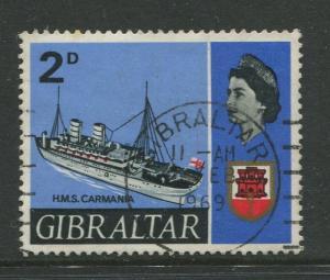 Gibraltar - Scott 188 - QEII Definitive Issue -1967- FU - Single 2d Stamp