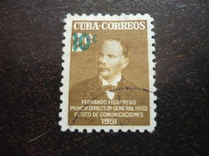 Stamps- Cuba-Scott# 474 - Used Single Stamp Surcharged