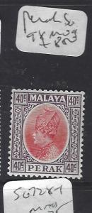 MALAYA PERAK   (P1409B)   SULTAN  40C    SG  98  MOG