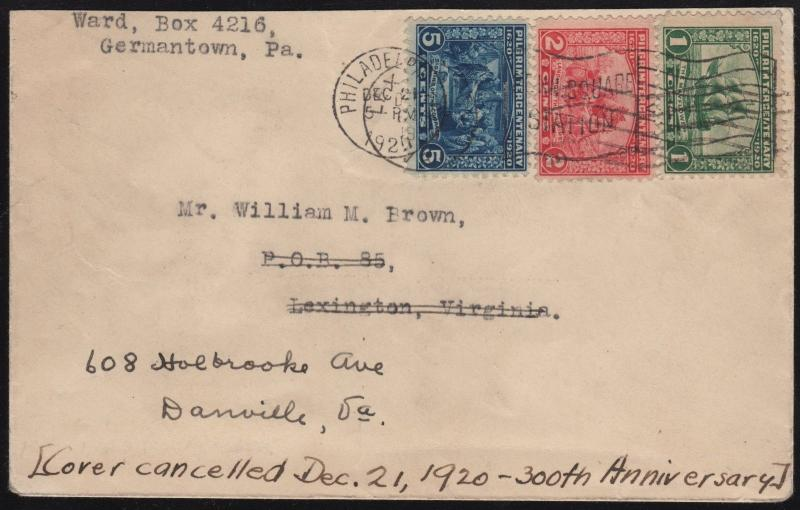 #548-550 COMPLETE SET OF FDC 12/21/20 PHILADELPHIA BROOKMAN CV $3,000 WL7213